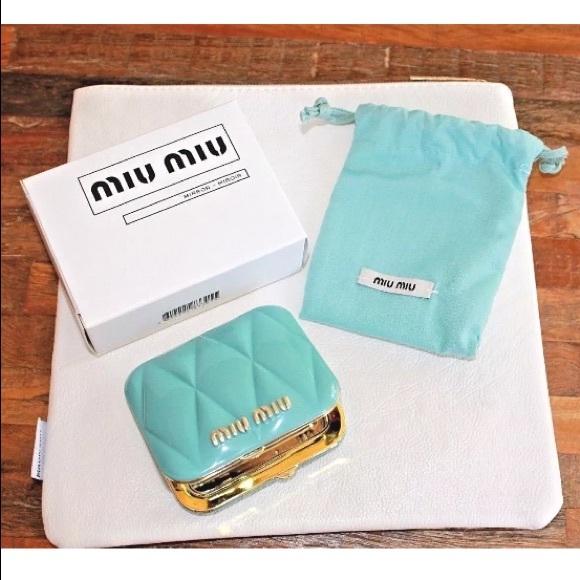 9793fa39e027 Miu Miu Teal Mirror - Brand New in Box